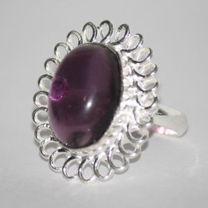Beautiful Amethyst and Silver ring NWOT